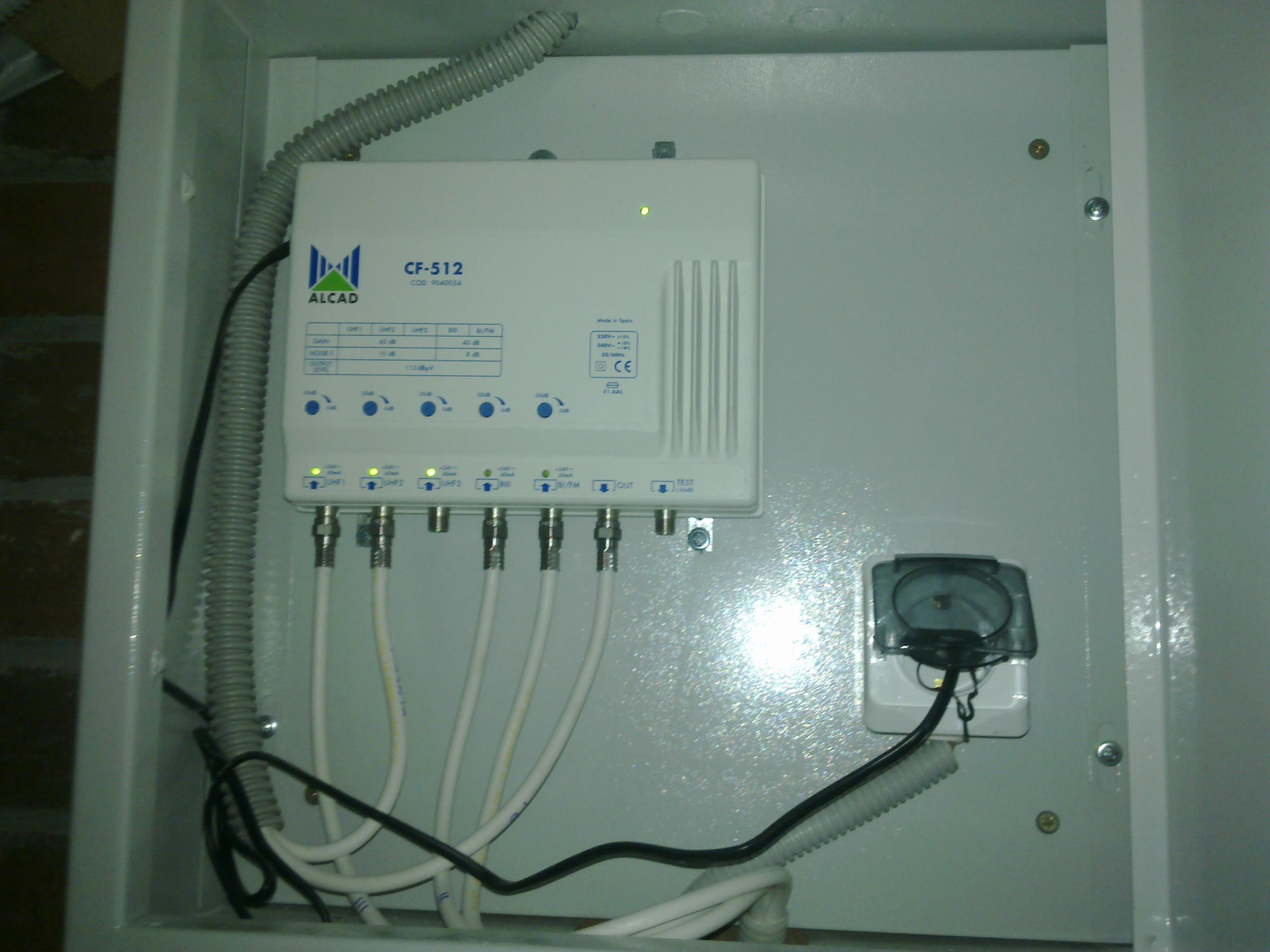 Монтаж антенного усилителя
