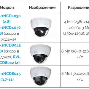 Видеокамеры RVI